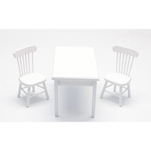 미니어쳐가구/직사각 2인용 식탁세트/흰색